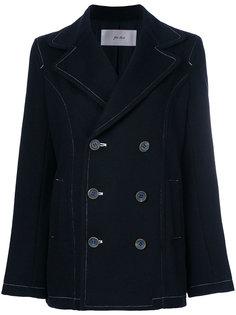 двубортное пальто с контрастной строчкой  Julien David