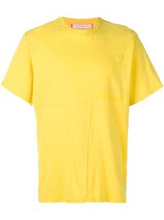футболка с открытой строчкой Eckhaus Latta