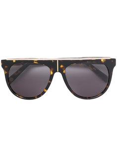 солнцезащитные очки с металлической деталью Balmain