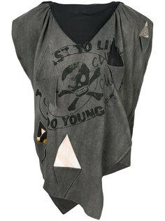 футболка с принтом и вырезной деталью Vivienne Westwood