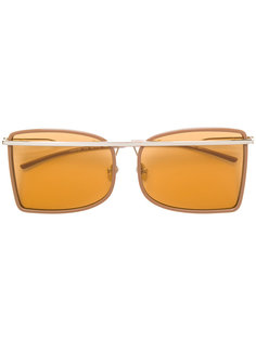 солнцезащитные очки в квадратной оправе Calvin Klein