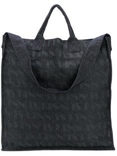 джинсовая сумка-тоут с графическим принтом Sunnei