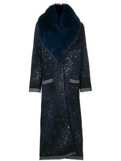 пальто со съемным воротником из искусственного меха  Giada Benincasa