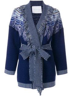 кардиган-пальто с узором и поясом Giada Benincasa