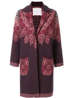 трикотажное пальто с узором Giada Benincasa