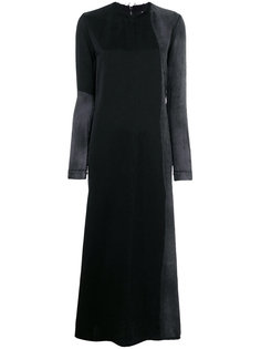 длинное платье с панельным дизайном Yang Li