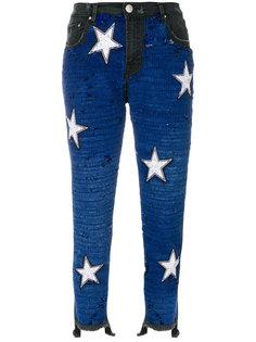 джинсы скинни с пайетками Dont Cry