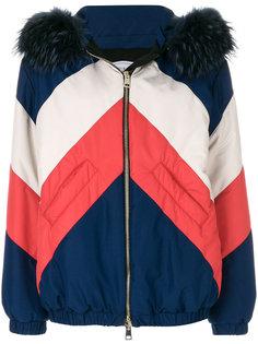 куртка с меховой отделкой капюшона Forte Couture