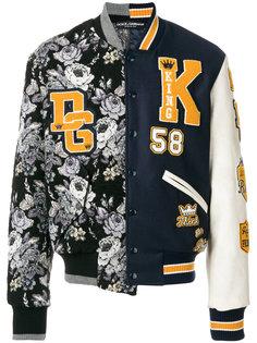 куртка-бомбер  с контрастными заплатками  Dolce & Gabbana