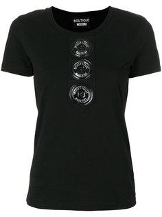 футболка с объемными пуговицами Boutique Moschino