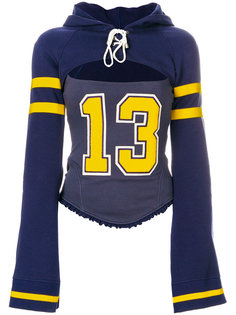 свитер с капюшоном и вырезной деталью Puma