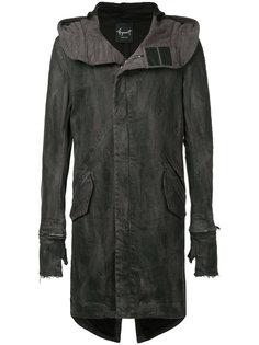 пальто с капюшоном и съемными перчатками Fagassent