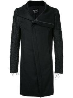 пальто с асимметричной застежкой Fagassent
