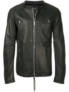 кожаная куртка без воротника Fagassent