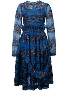 платье с вышивкой Jourden