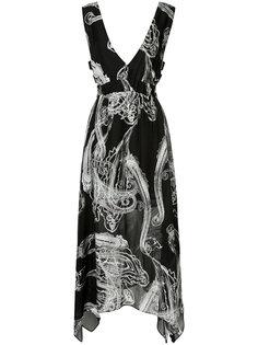 платье с нарисованным узором пейсли Manning Cartell