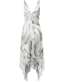 платье Georgette с нарисованным узором пейсли Manning Cartell