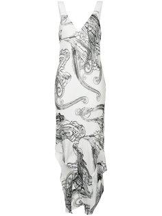 платье-миди с нарисованным узором пейсли Manning Cartell