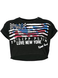укороченная футболка с принтом флага Philipp Plein