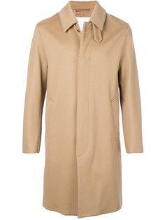 однобортное пальто с потайной застежкой Mackintosh