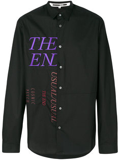 рубашка с вышивкой McQ Alexander McQueen