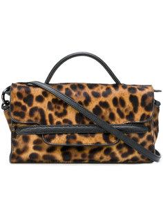 мини сумка-тоут Nina с леопардовым принтом Zanellato