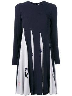 плиссированное платье с принтом  Salvatore Ferragamo
