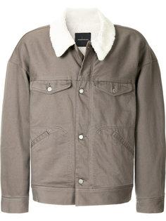 куртка с отделкой из овчины Undercover