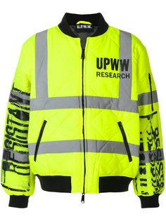 стеганая куртка-бомбер с графическим принтом  Utility Pro