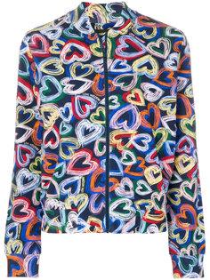 куртка-бомбер с принтом  Love Moschino
