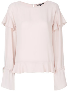 pleated trim top  Luisa Cerano