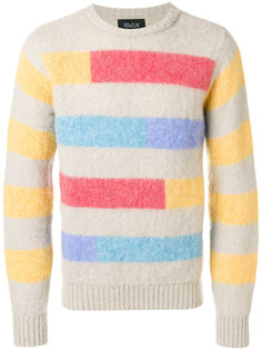 полосатый свитер дизайна колор-блок Howlin