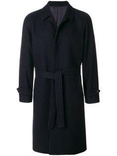 пальто с поясом Hevo
