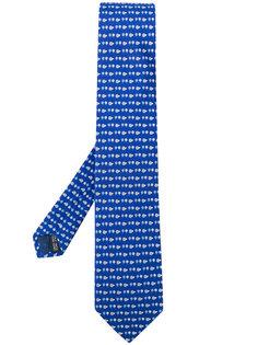 галстук с принтом ежей Salvatore Ferragamo