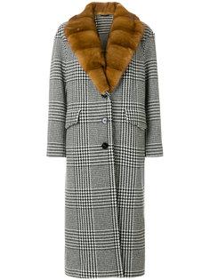 пальто в ломаную клетку  Ermanno Scervino