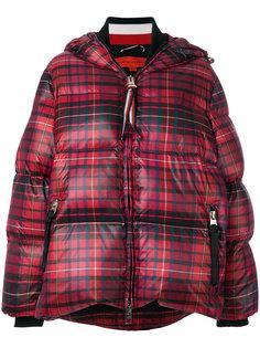 пуховое пальто в шотландскую клетку Hilfiger Collection