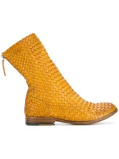 плетеные ботинки на молнии Sartori Gold