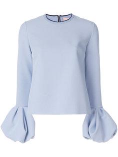 блузка с оборками на манжетах Roksanda