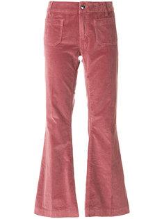 укороченные бархатные брюки клеш  The Seafarer