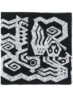 шарф с принтом Bernhard Willhelm