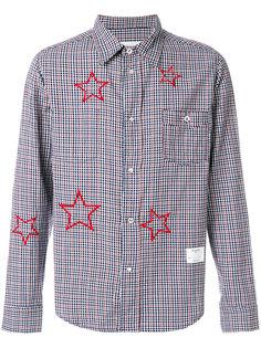 рубашка в клетку с принтом звезд The Editor