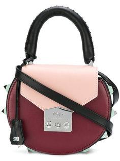 круглая сумка через плечо с заклепками Salar