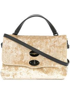 текстурированная сумка на плечо с заклепками Zanellato