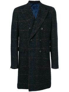 прямое пальто с длинными рукавами Caruso