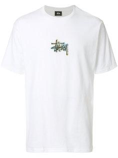 футболка с голографическим логотипом Stussy