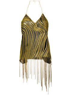 блузка с бахромой Balmain