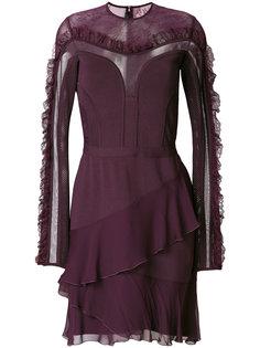 платье с полупрозрачной вставкой  Elie Saab