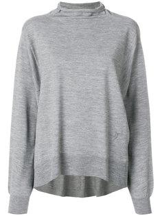 расклешенный свитер с высокой горловиной Wunderkind