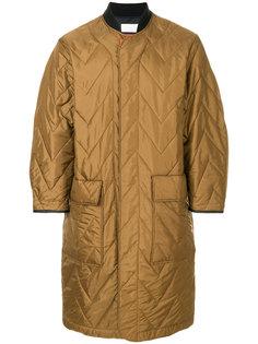 длинное стеганое пальто на молнии Reality Studio