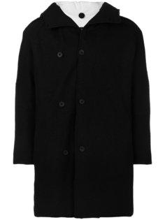 двубортное пальто с капюшоном Transit